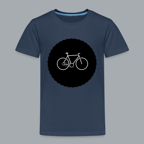 Bike Circle Vector - Kinder Premium T-Shirt