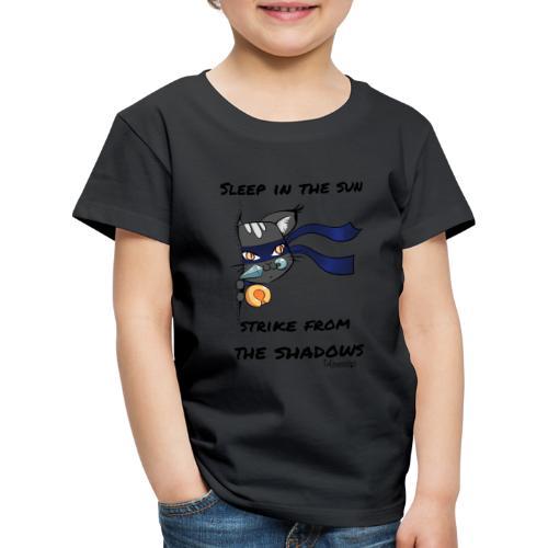 Ninja Cat gluurt vanuit shirt EnChantalled png - Kids' Premium T-Shirt