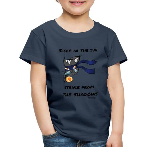 Ninja Cat gluurt vanuit shirt EnChantalled png - Kids' Premium T-Shirt