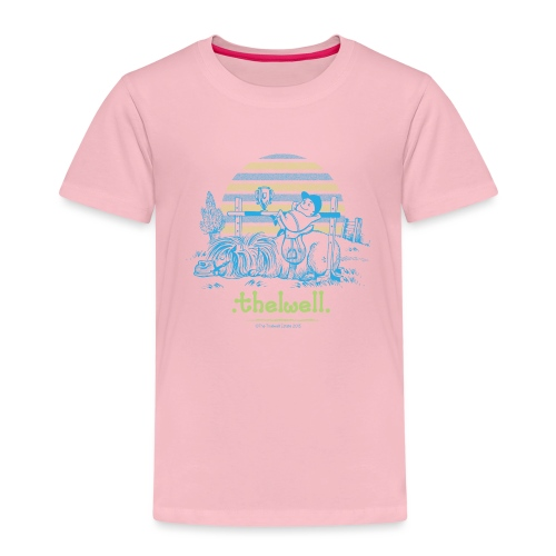 Thelwell Cartoon Pony Sieg - Kinder Premium T-Shirt