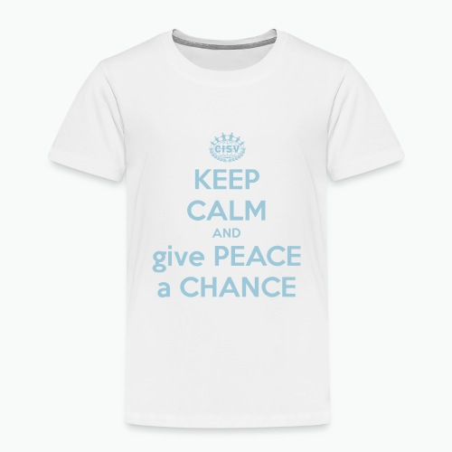 keep-calm-and-give-peace-a-chance - Kinder Premium T-Shirt