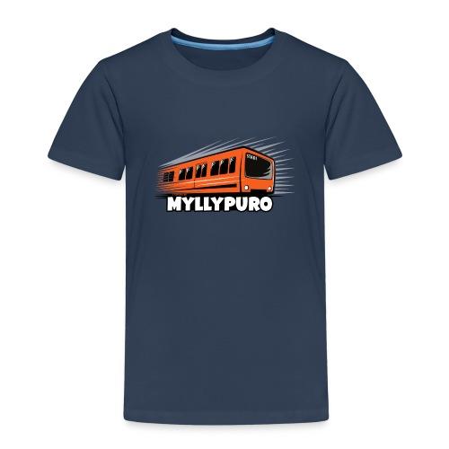 05 - METRO MYLLYPURO - HELSINKI - LAHJATUOTTEET - Lasten premium t-paita