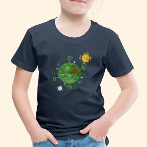 Trees on Green Planet with Sun Moon - Kinderen Premium T-shirt