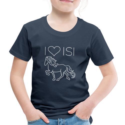 I love Isi, weiß - Kinder Premium T-Shirt