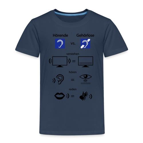 Hörende vs. Gehörlose - Kinder Premium T-Shirt