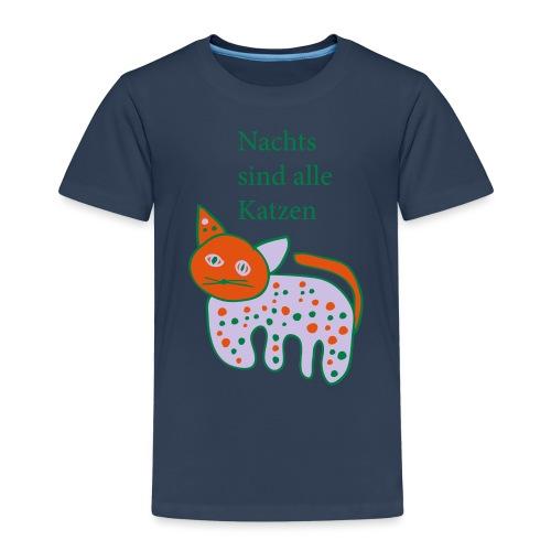 Nachts sind Katzen bunt - Kinder Premium T-Shirt