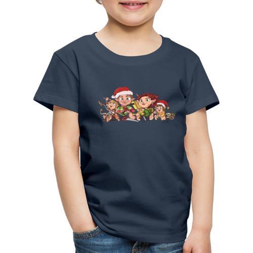 rickgoblinfamily xmas transparent - Kids' Premium T-Shirt