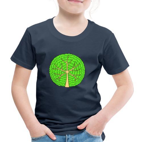 Baum, rund, hellgrün - Kinder Premium T-Shirt