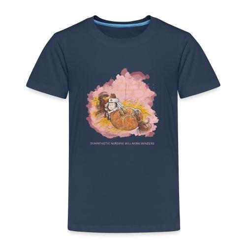 Thelwell Cartoon Pony hat Krankenbesuch - Kinder Premium T-Shirt