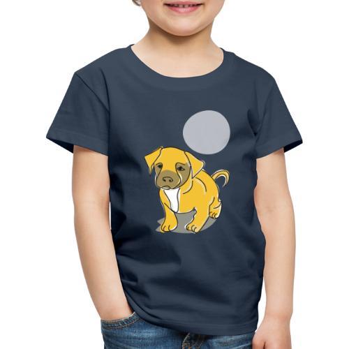 Hund mit Mond - Kinder Premium T-Shirt