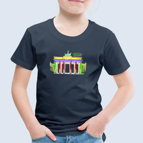 Brandenburger Tor Berlin PopArt ickeshop BachBilde - Kinder Premium T-Shirt
