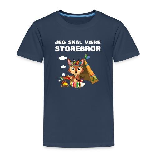 Jeg skal være storebror ræv indianere ræve gave - Børne premium T-shirt