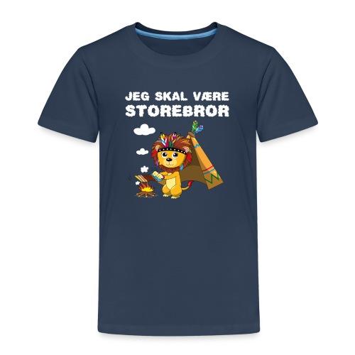 Jeg skal være storebror løve gave fødsel brødre - Børne premium T-shirt