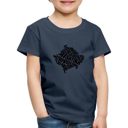 Kosovo Land mit allen Städten - Kinder Premium T-Shirt
