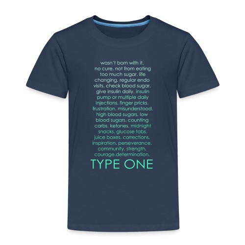 Type One Ombre - Green - Kids' Premium T-Shirt