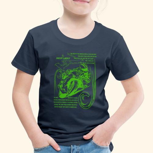 Rennmotorad USA Rennstrecke - Kinder Premium T-Shirt