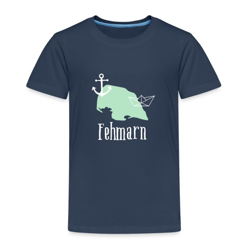 Fehmarn mint weiß Anker Boot - Kinder Premium T-Shirt