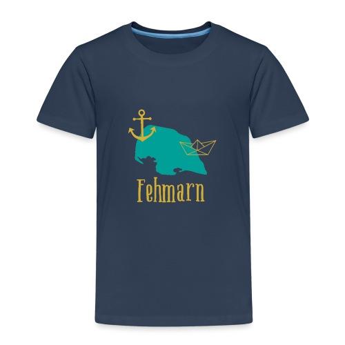 Fehmarn türkis gold Anker Boot - Kinder Premium T-Shirt
