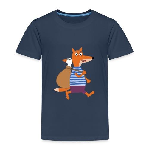 Fuchs auf der Flucht - Kinder Premium T-Shirt