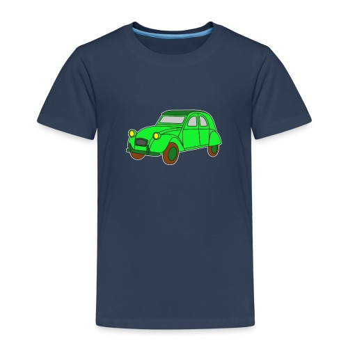 Digi - Ente Oldtimer France Frankreich Hot Rod - Kinder Premium T-Shirt