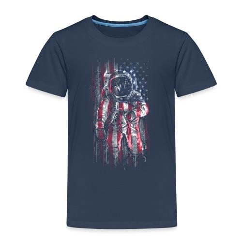 Astronaut Flag - Kids' Premium T-Shirt