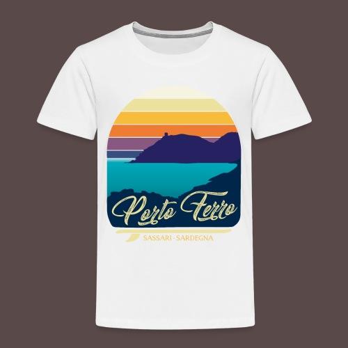 Porto Ferro - Vintage travel sunset - Maglietta Premium per bambini