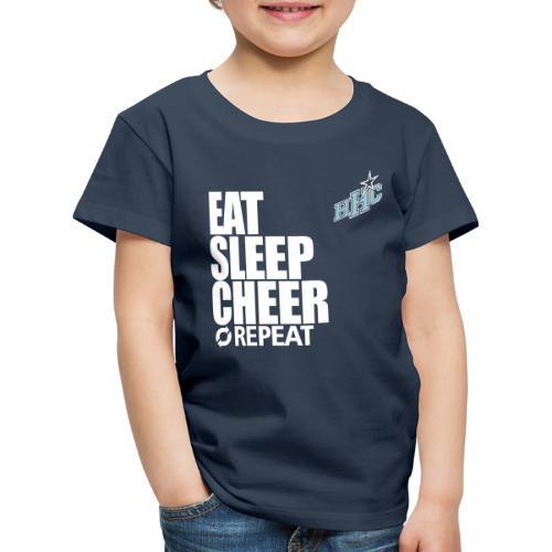 eat sleep cheer - Kinder Premium T-Shirt