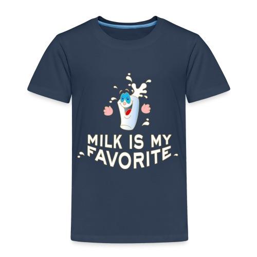 Milk is my favorite Milch Kaffee Sahne Kühe Bauern - Kinder Premium T-Shirt
