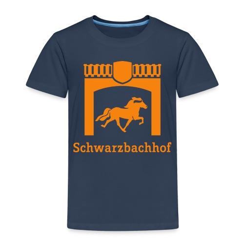Logo Schwarzbachhof Orange - Kinder Premium T-Shirt