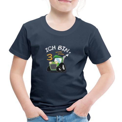 Kinder 3. Geburtstags Traktor Junge Shirt - Kinder Premium T-Shirt