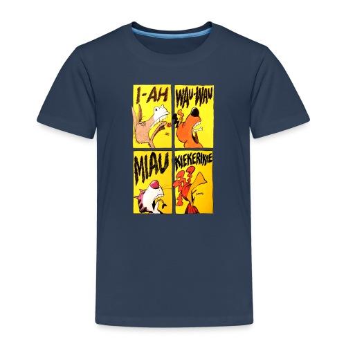 Die Bremer Stadtmusikanten. Retro-Comic - Kinder Premium T-Shirt