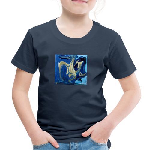 TIAN GREEN Welt Mosaik - AT042 Blue Passion - Kinder Premium T-Shirt