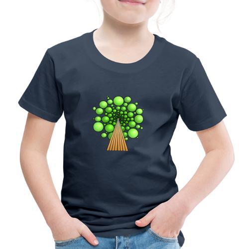 Kugel-Baum, 3d, hellgrün - Kinder Premium T-Shirt