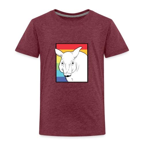 Tapir mit Regenbogen Farben - Kinder Premium T-Shirt