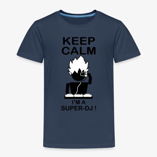 KEEP CALM SUPER DJ B&W - T-shirt Premium Enfant