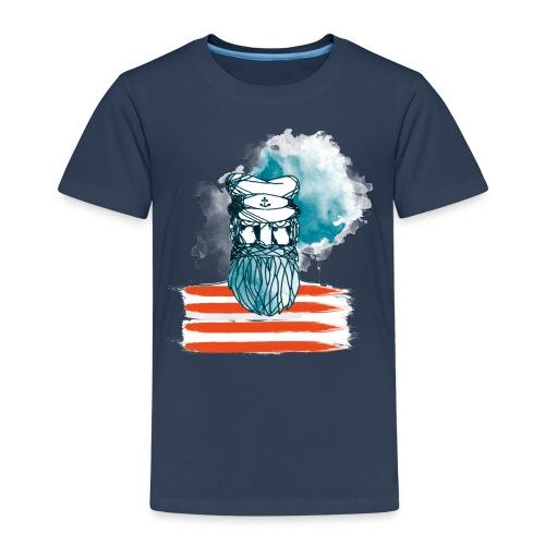 Der alte Seebär - Maritim Serie von AP-Design - Kinder Premium T-Shirt