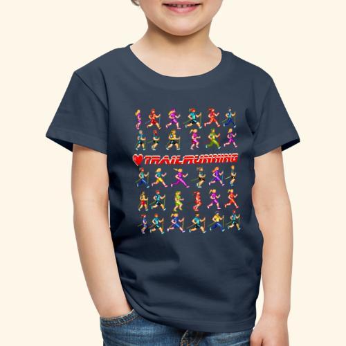 LOVE TRAILRUNNING PIXEL - Maglietta Premium per bambini