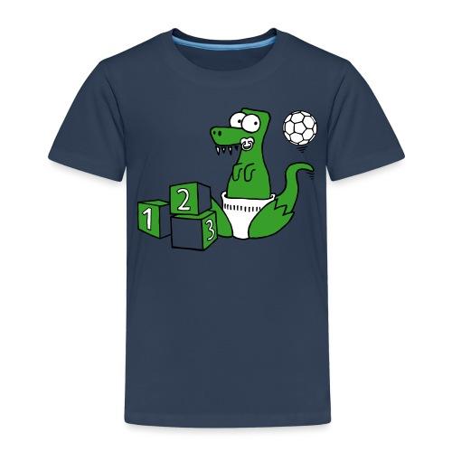 Baby T-Rex Dino mit Ball und Würfel - Kinder Premium T-Shirt