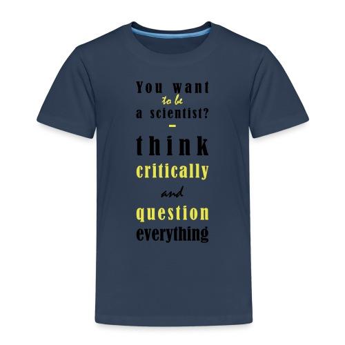 Think Critically - Koszulka dziecięca Premium