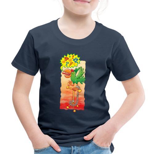 Furious parrot saying bad words - Kids' Premium T-Shirt
