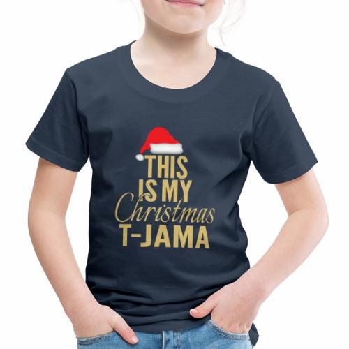 This is my christmas t jama gold 01 - Premium-T-shirt barn