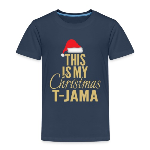 This is my christmas t jama gold 01 - Børne premium T-shirt