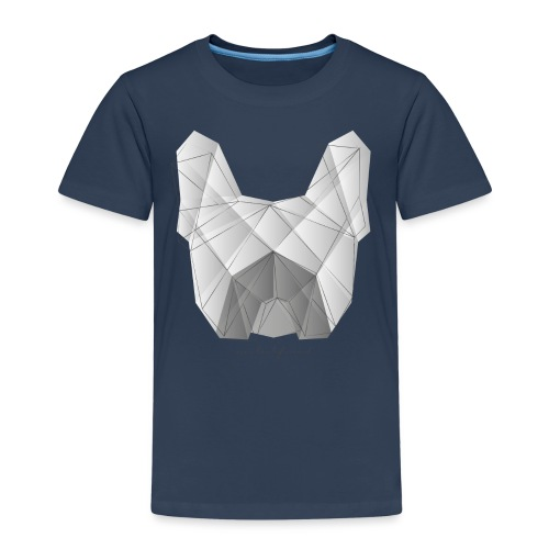 Geometric Frenchie white - Französische Bulldogge - Kinder Premium T-Shirt