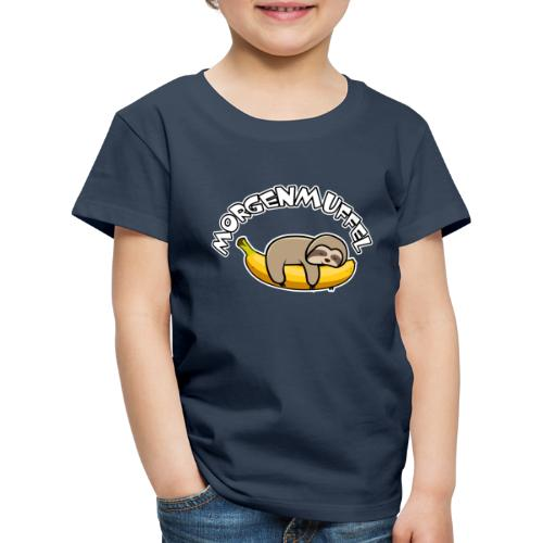 Morgenmuffel - Faultier auf Banane - Kinder Premium T-Shirt