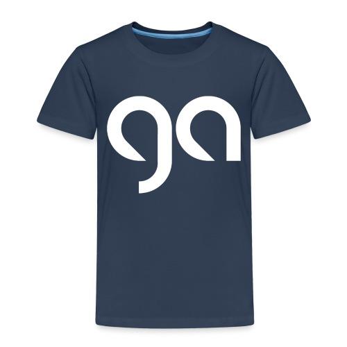 Logo Gymnasium Altlünen weiss - Kinder Premium T-Shirt