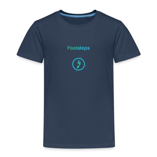 Footsteps Schriftzug einzeln png - Kinder Premium T-Shirt