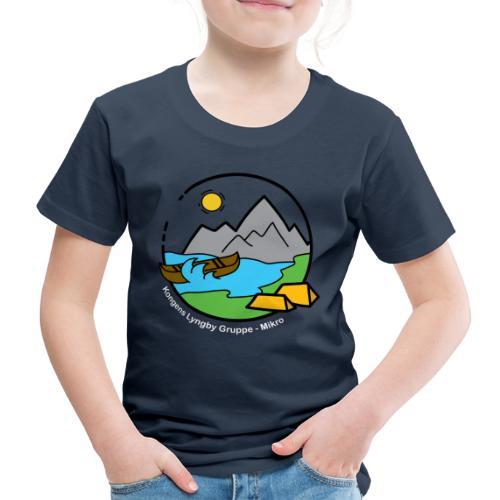 Mikro hvid - Børne premium T-shirt