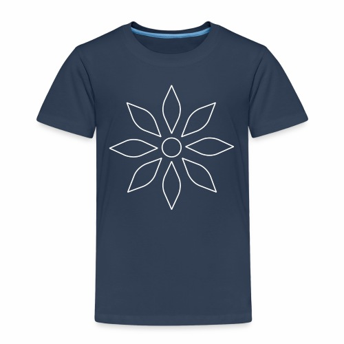 Kaleidoscope Sunflower white - Kinder Premium T-Shirt