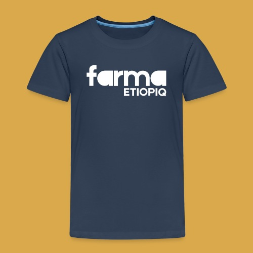Farma Etiopiq straight logo - Premium-T-shirt barn