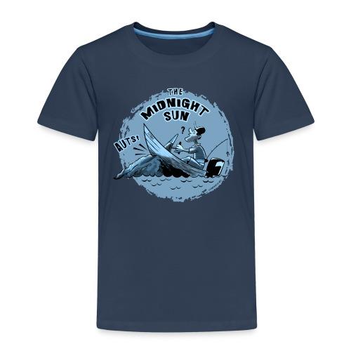 MIDNIGHT SUN, FUNNY FISHING TEXTILES, GIFTS - Lasten premium t-paita